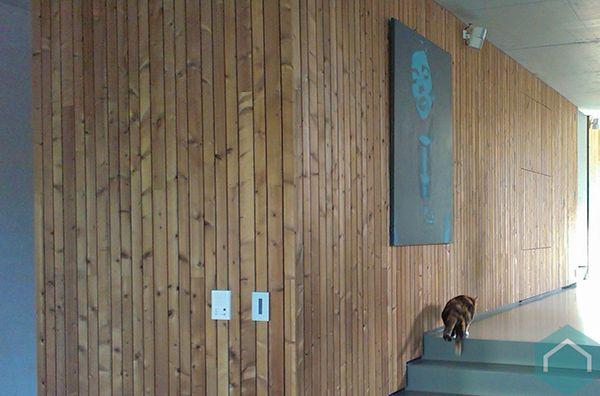 Mooie Houten Plank Voor Aan De Muur.Houten Wanden Plafonds Producten Ecomat
