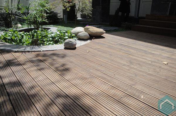 Houten terras producten ecomat - Bedek een houten terras ...