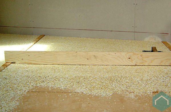 Houten vloer egaliseren met korrels houten vloer egaliseren
